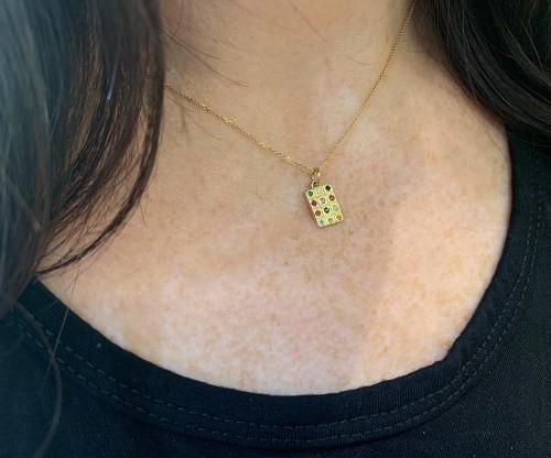Mini gold Hoshen pendant