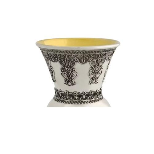 Yemenite filigree Sterling Silver Kiddush Cup