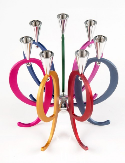 COLORFUL EXPANDABLE FAMILY CANDELABRA