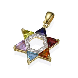 Multicolor star of david