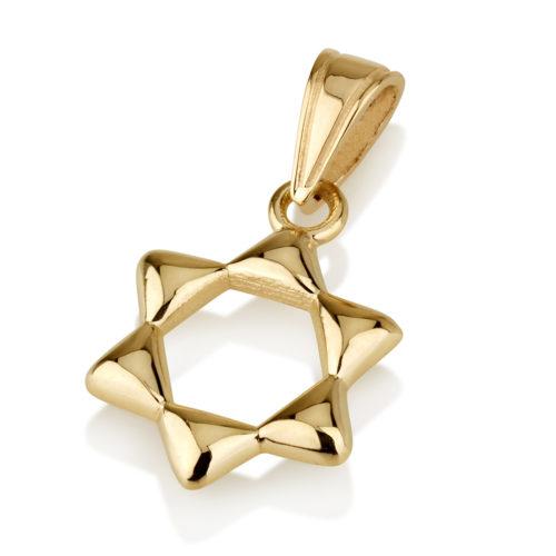Dainty Jewish Star 14k Gold Pendant - Baltinester Jewelry