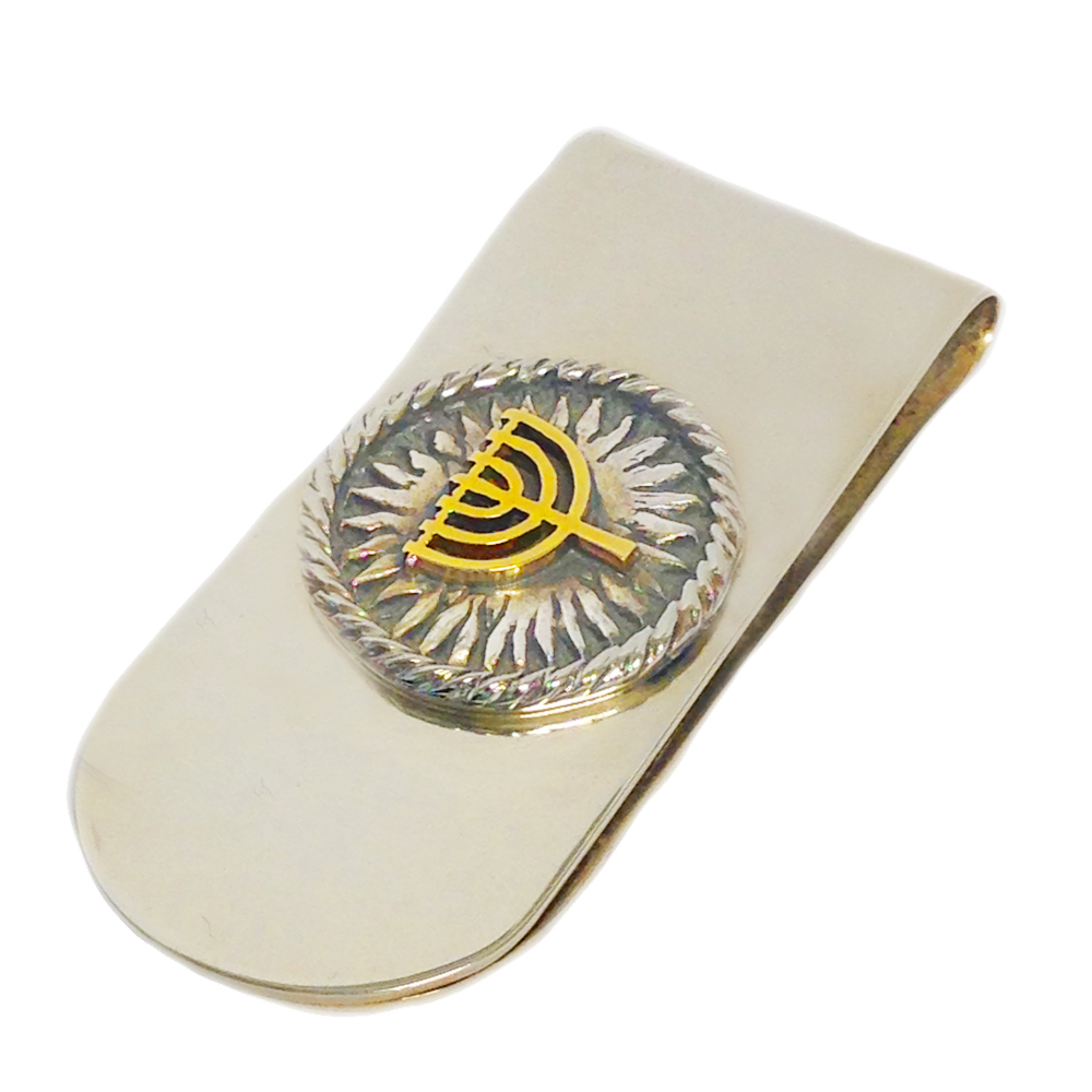 Silver and Gold Menorah Money Clip - Baltinester Jewelry