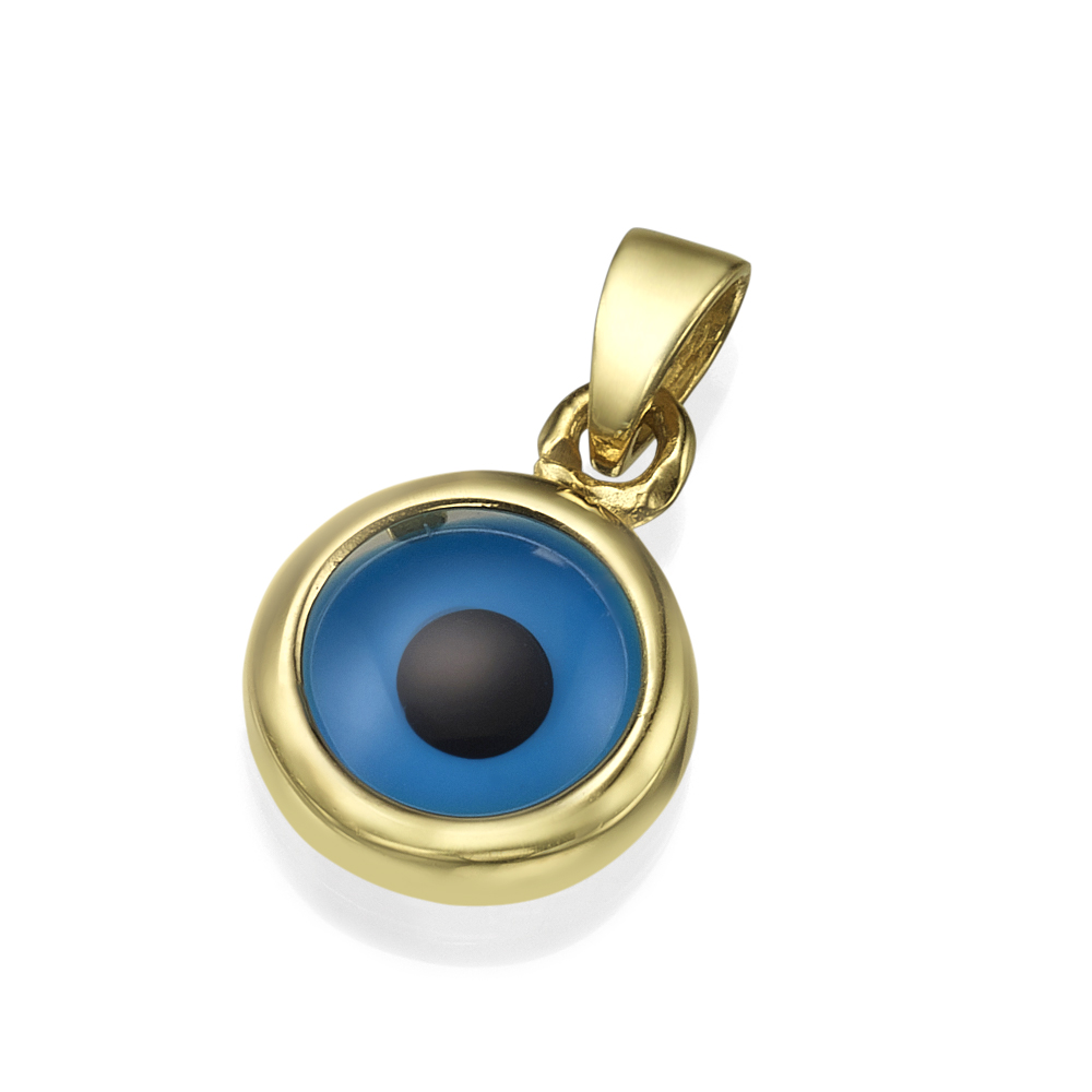 14k Gold Blue Evil Eye Charm - Baltinester Jewelry