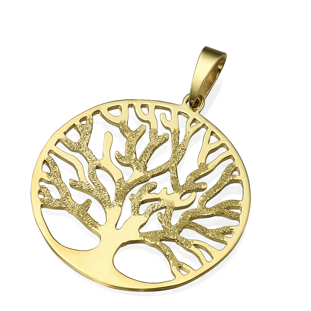14k Gold Tree of Life Round Pendant - Baltinester Jewelry