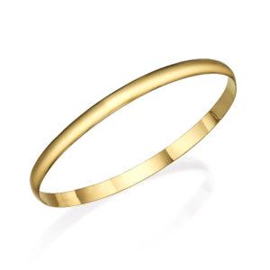 Soft Matte Bangle Bracelet 14k Gold - Baltinester Jewelry