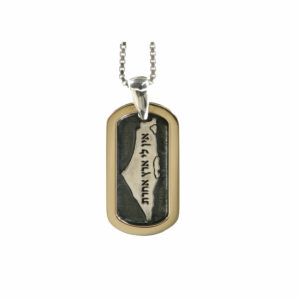 Silver and Gold Land of Israel Pendant - Baltinester Jewelry