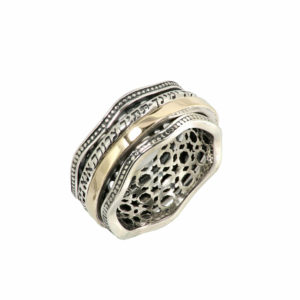 Ana Bekoach Double Spinner Ring - Baltinester Jewelry