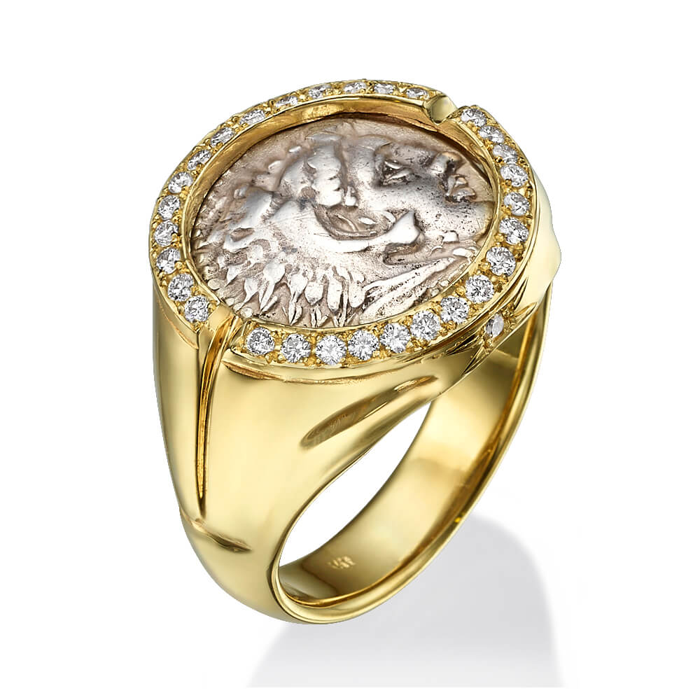 Alexander Coin Diamond Signet Ring - Baltinester Jewelry