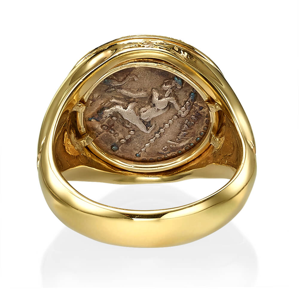 Alexander Coin Diamond Signet Ring 2 - Baltinester Jewelry