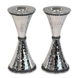 Hammered Sterling Silver Candlesticks - Baltinester Jewelry
