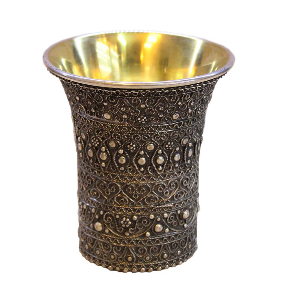 Elegant Full Filigree Kiddush Cup - Baltinester Jewelry