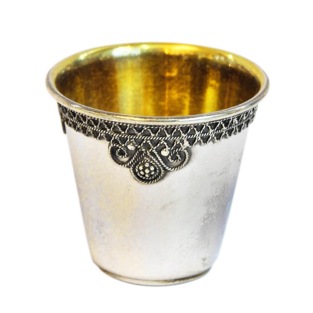 Elegant Filigree Silver Liqueur Cup - Baltinester Jewelry