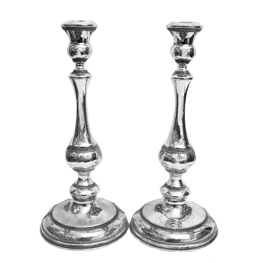 Elegant Sterling Silver Candlesticks - Baltinester Jewelry