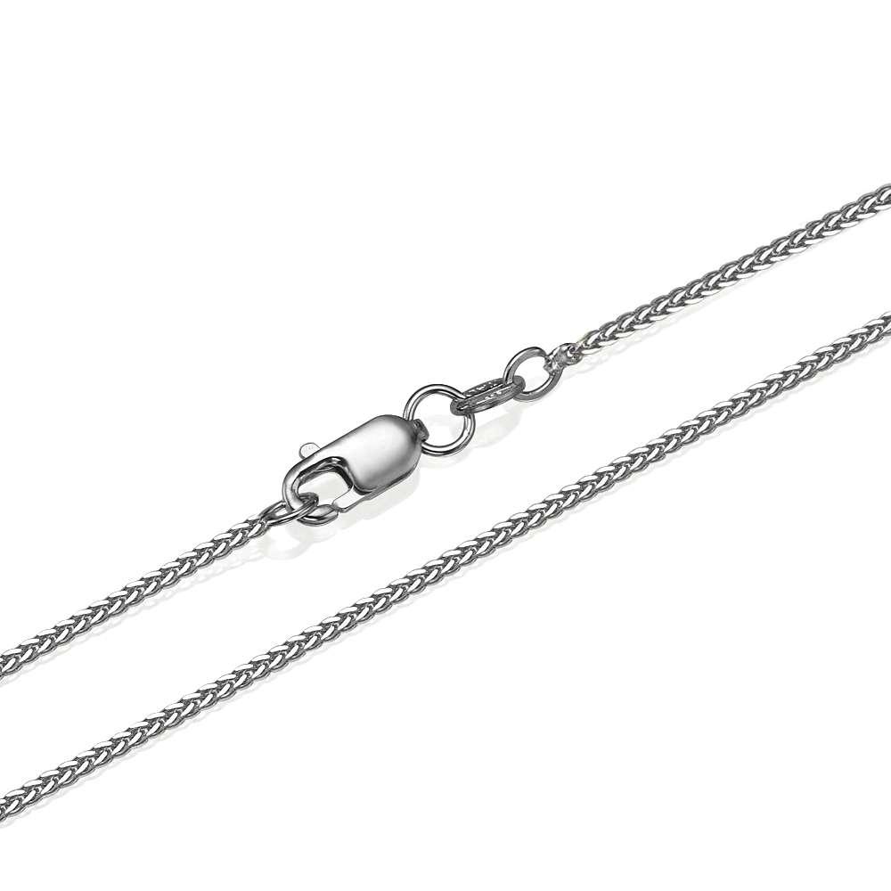 14k White Gold Spiga Chain 1.1mm 16-24