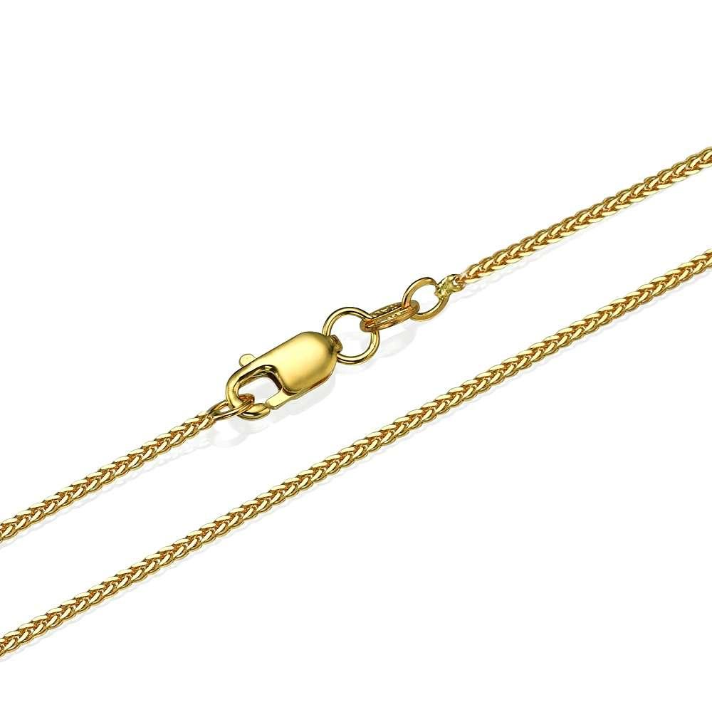 14k Yellow Gold Spiga Chain 1.1mm 16-24