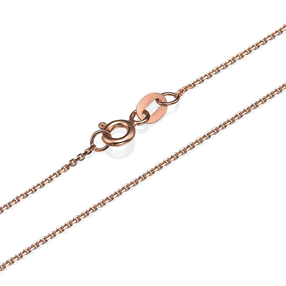 Anchor Link Chain in 14k Rose Gold 1.1mm 16-24
