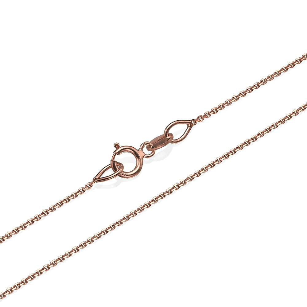 Anchor Link Chain in 14k Rose Gold 0.9mm 16-24