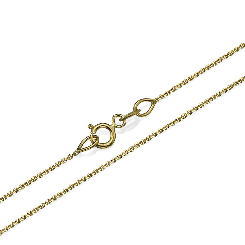 Anchor Link Chain in 14k Yellow Gold 0.9mm 16-24