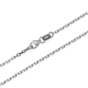 """Anchor Link Chain in 14k White Gold 1.7mm 16-24"""" - Baltinester Jewelry"""