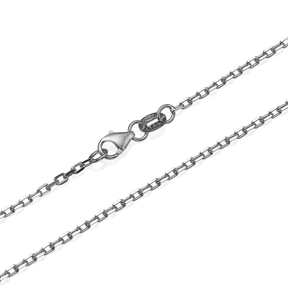 Anchor Link Chain in 14k White Gold 1.7mm 16-24