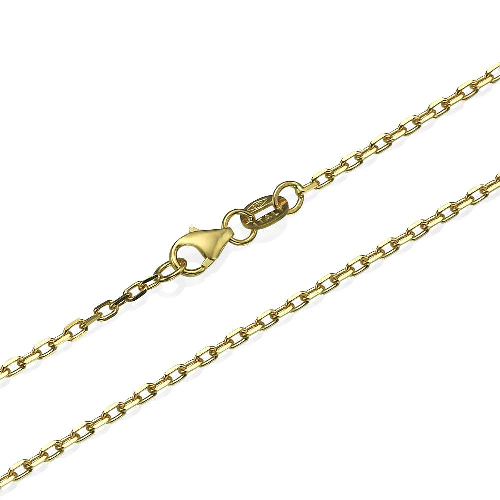 Anchor Link Chain in 14k Yellow Gold 1.7mm 16-24