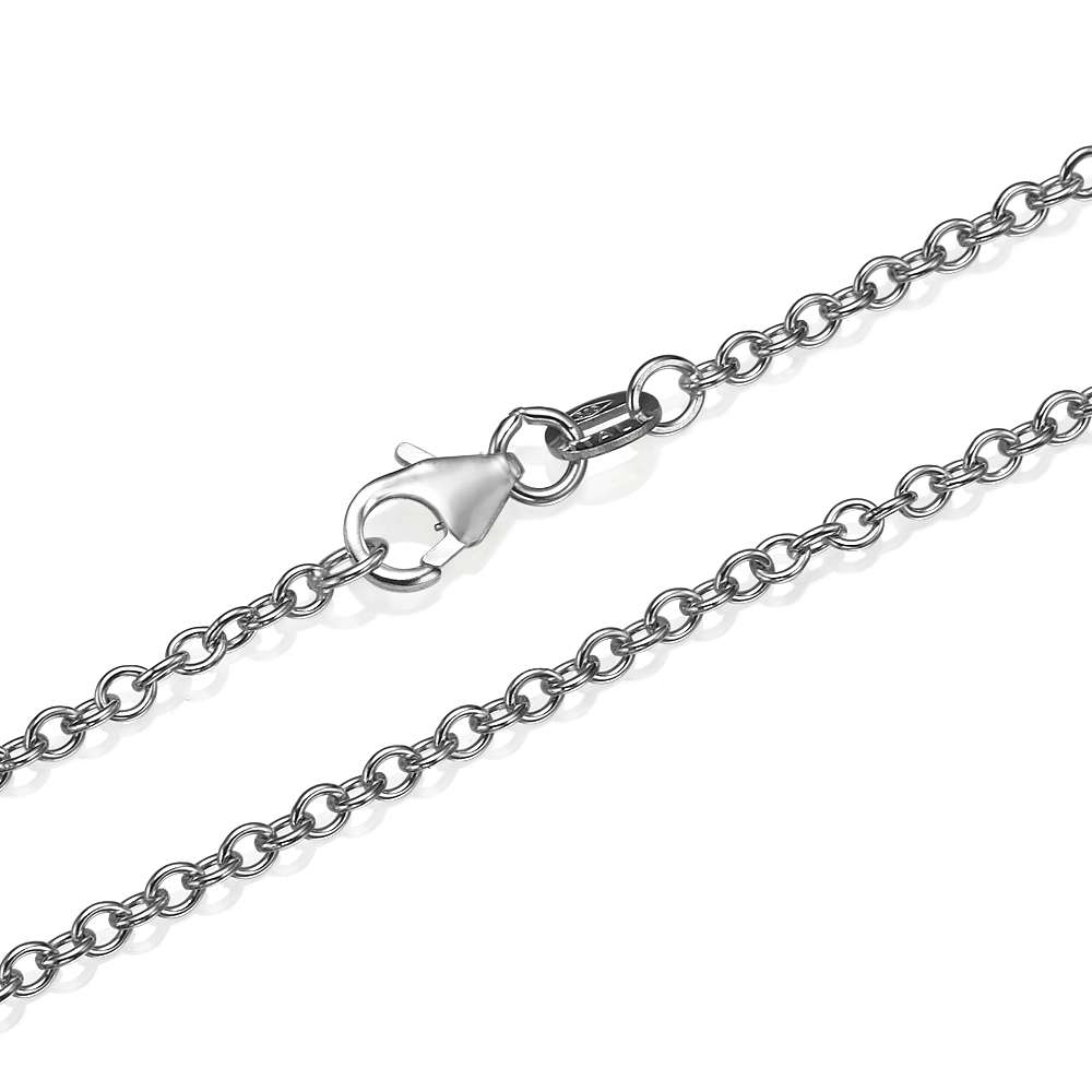 Rolo Link Chain in 14k White Gold 2.3mm 16-24