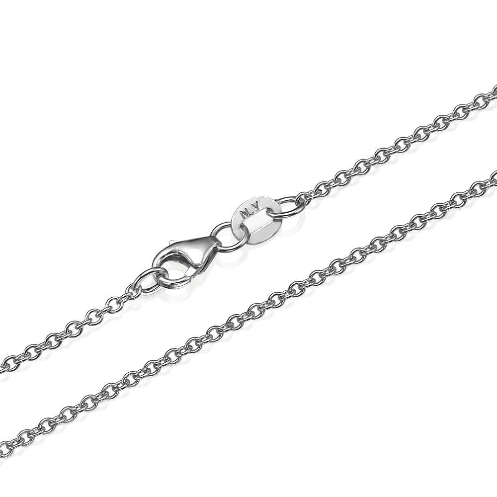 Rolo Link Chain in 14k White Gold 1.5mm 16-24