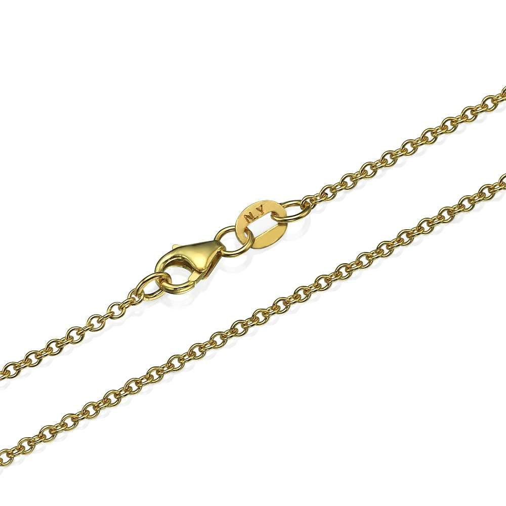 Rolo Link Chain in 14k Yellow Gold 1.5mm 16-24