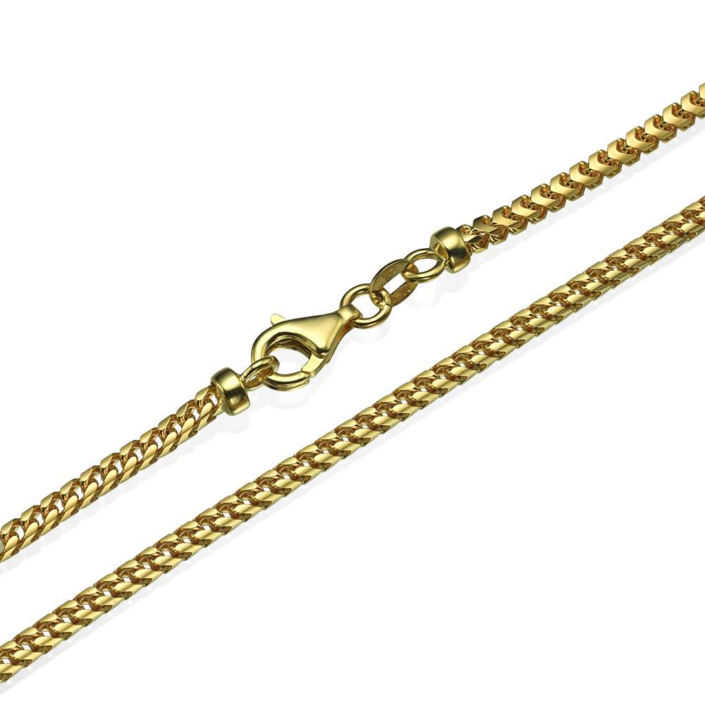 Franco Chain in 14k Yellow Gold 3mm 16-28