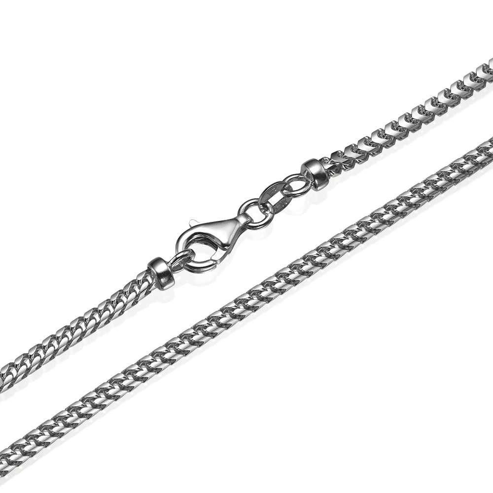 Franco Chain in 14k White Gold 3mm 16-28