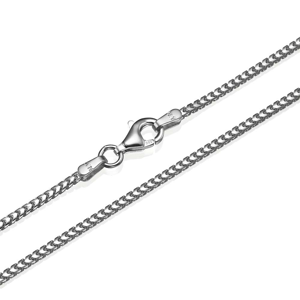 Franco Chain in 14k White Gold 1.5mm 16-28