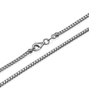 """Franco Chain in 14k White Gold 2mm 16-28"""" - Baltinester Jewelry"""