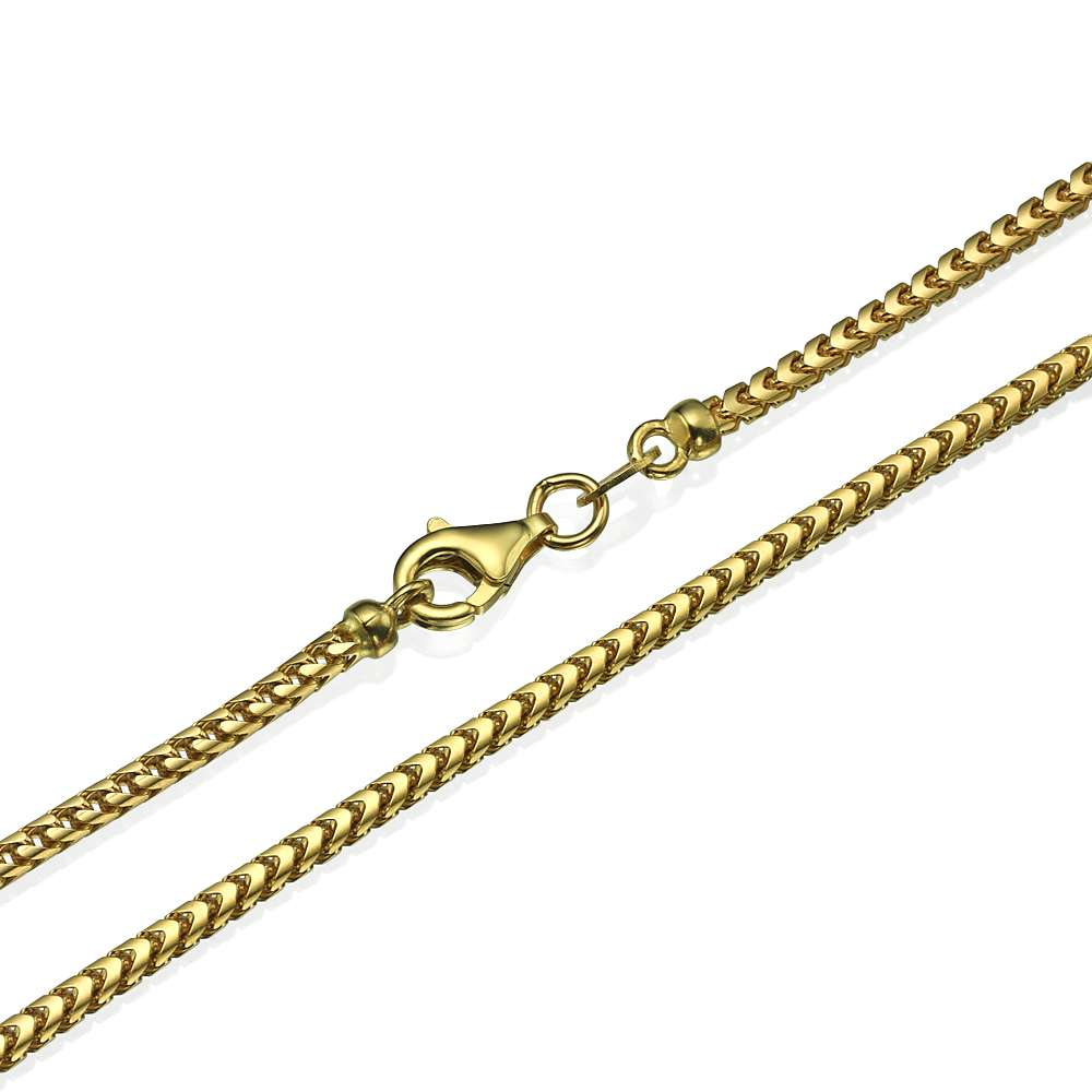 Franco Chain in 14k Yellow Gold 2mm 16-28