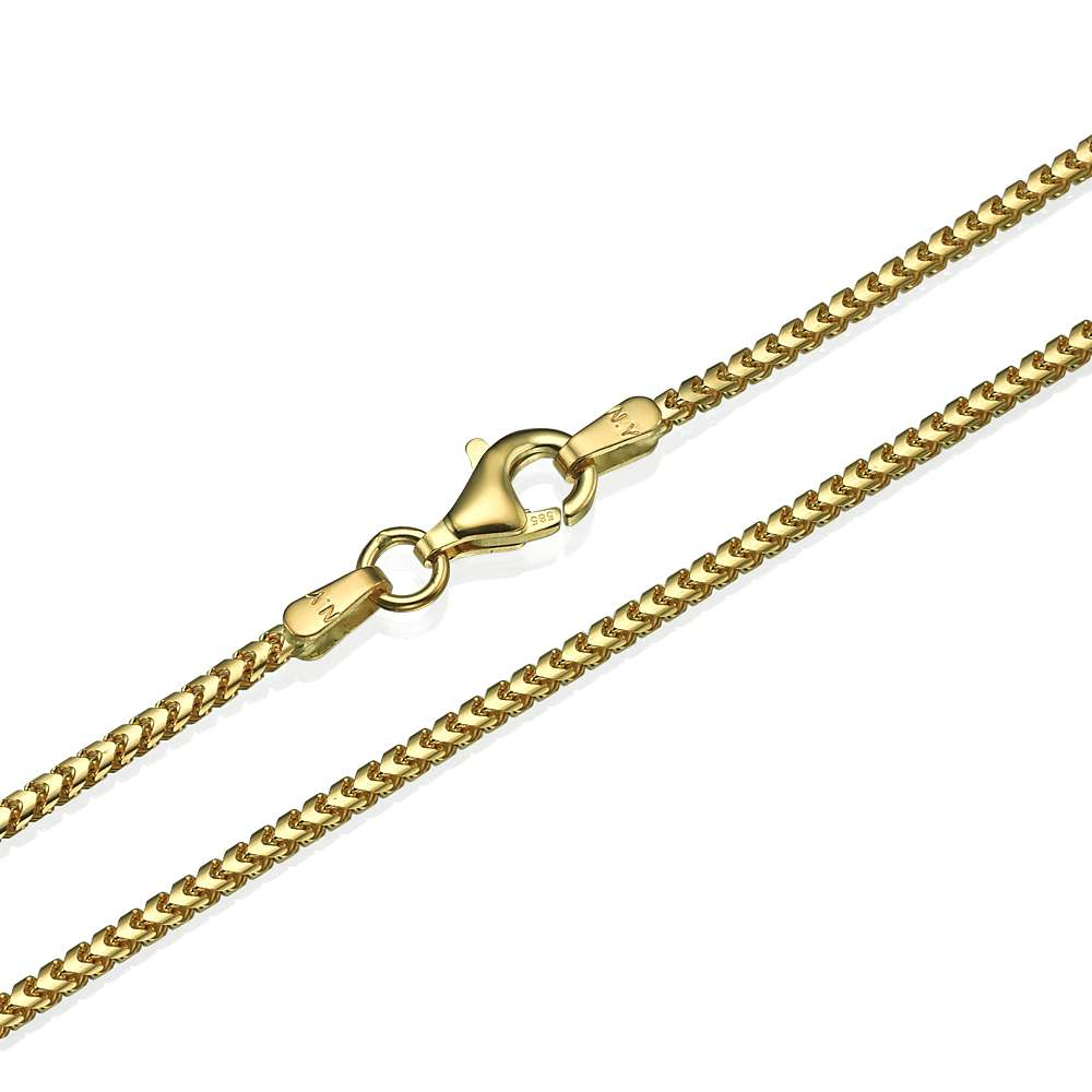 Franco Chain in 14k Yellow Gold 1.5mm 16-28