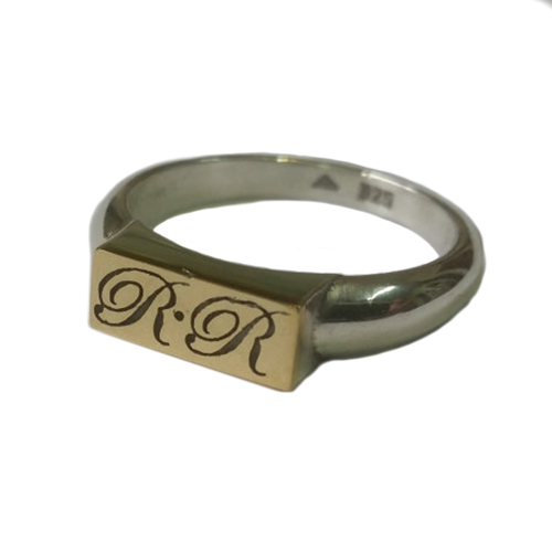 Personalized Silver and Gold Ring 2 - Baltinester Jewelry