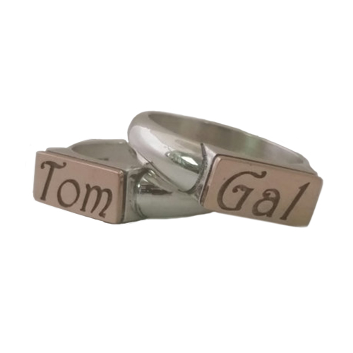 Personalized Silver and Gold Ring 3 - Baltinester Jewelry