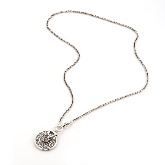 Silver and Gold Zodiac Necklace 2 - Baltinester Jewelry