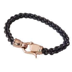 Titanium and Gold Chain Bracelet - Baltinester Jewelry