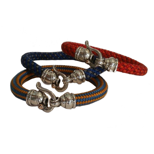 Colorful Rope Bracelet With Byzantine Sterling Silver Hook 2 - Baltinester Jewelry