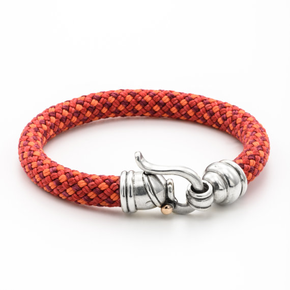 Colorful Rope Bracelet With Byzantine Sterling Silver Hook - Baltinester Jewelry