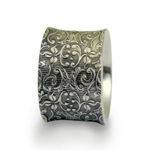 Floral Filigree Sterling Silver Ring - Baltinester Jewelry