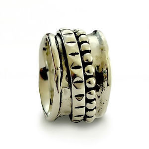 Handmade Silver Double Spinner Ring - Baltinester Jewelry