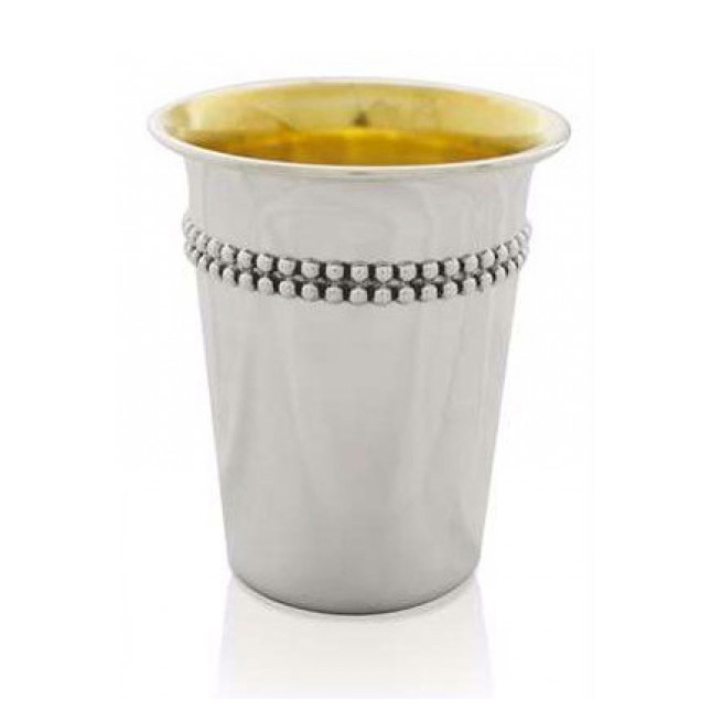 Gershon Sterling Silver Kiddush Cup - Baltinester Jewelry