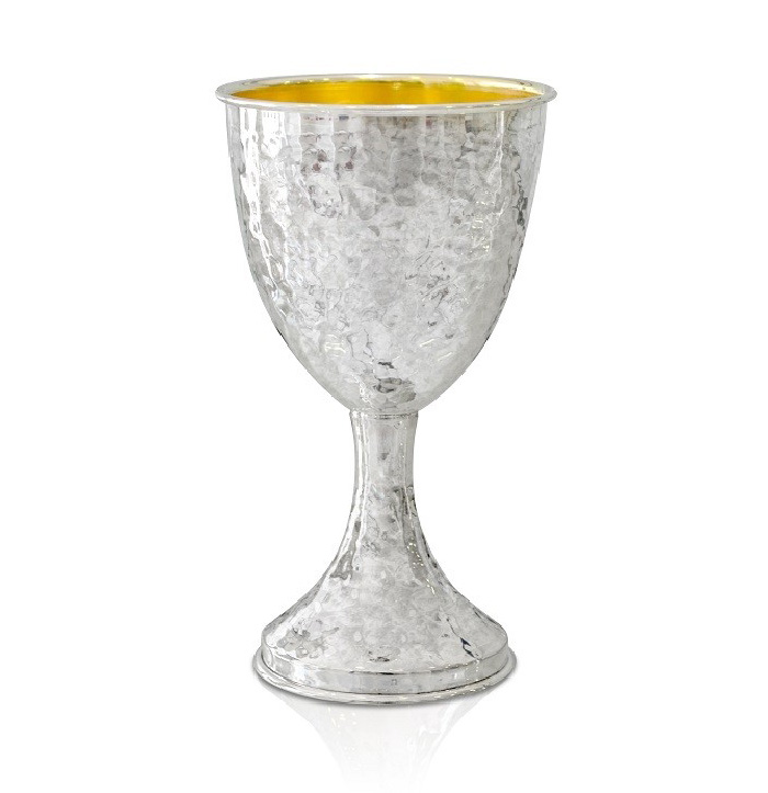Levi Hammered Sterling Silver Kiddush Cup - Baltinester Jewelry