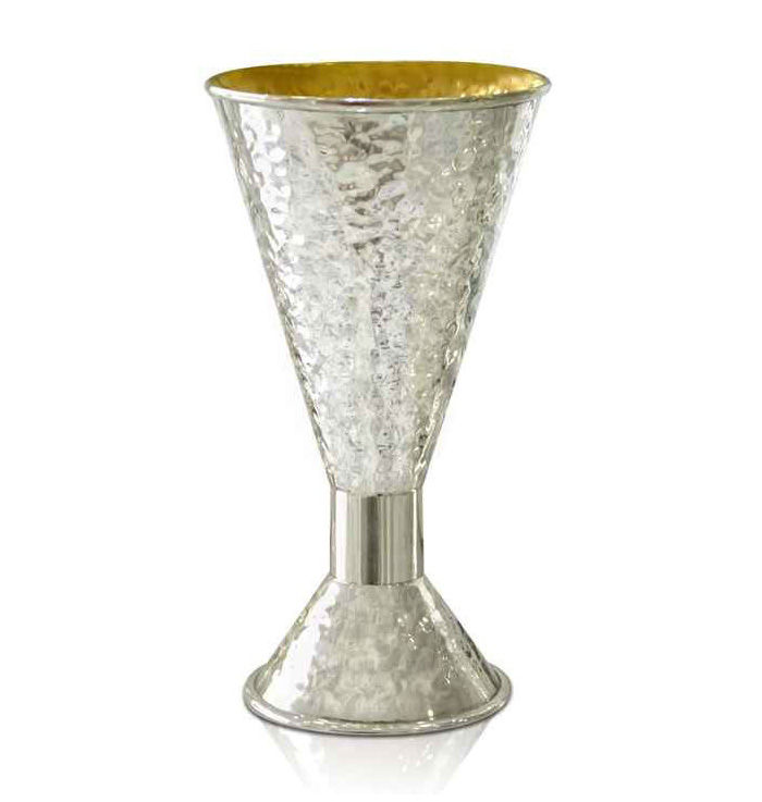Natan Hammered Silver Kiddush Cup - Baltinester Jewelry