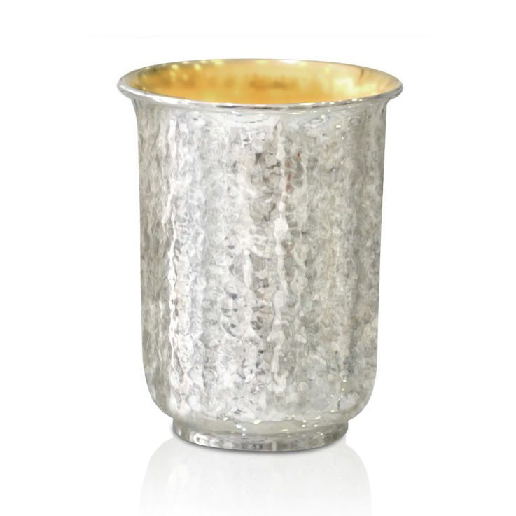 Gedalia Hammered Silver Kiddush Cup - Baltinester Jewelry