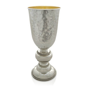 Dovber Hammered Kiddush Cup - Baltinester Jewelry