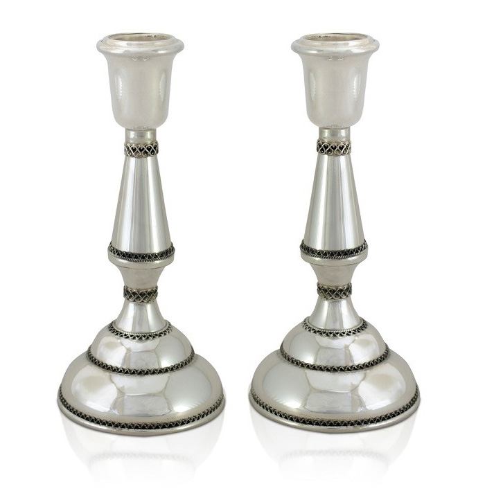 Etti Sterling Silver Classic Candlesticks - Baltinester Jewelry