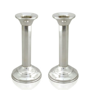Yael Sterling Silver Column Candlesticks - Baltinester Jewelry