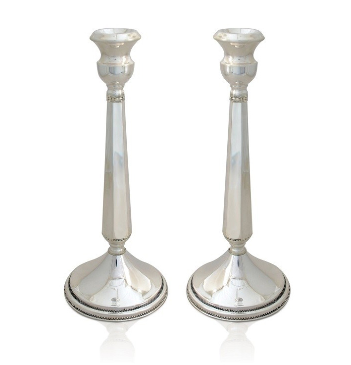 Talia Standard Sterling Silver Candlesticks - Baltinester Jewelry